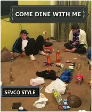 come dine with me sevco style