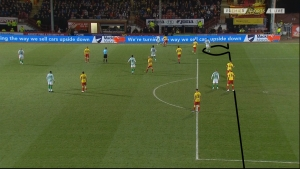 Offside decision was close!