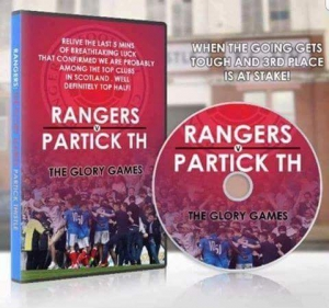 Relive the moment dvd, Rangers v Partick.