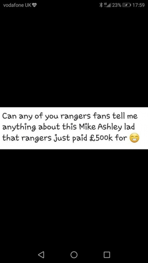 Rangers and Ashley