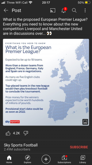 New euro premier league
