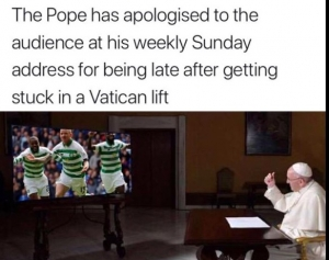 Real reason Pope was late for Prayer