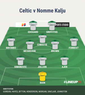 I'd go with this team tonight. Jullien needs game time, give him at least an hr. This mob will sit very deep, get 2 strikers on and allow Eddy to drift into holes.